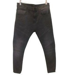 Zara Black Washed Biker High Waist Skinny Jean 31